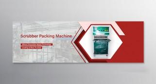 SCRUBBER PACKING MACHINE BANNER DESIGNING