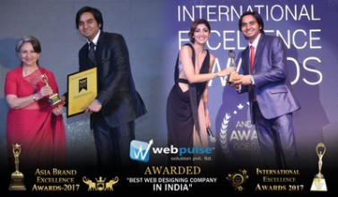 Webpulse Solution (P) Limited Won Best Web Designing Company in India Award at IEA 2017 and ABEA 2017