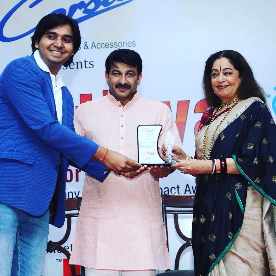 Receiving Social Impact Award