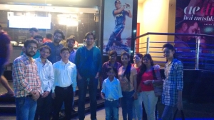 At Cinema Watching MS Dhoni with Webpulse Team