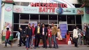Webpulse Team at SATTE (Biggest Travel Trade Show) Pragati Maidan, New Delhi